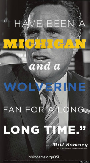 ... Ohio State Ad: Dems Attack 2012 Candidate's Support For Michigan