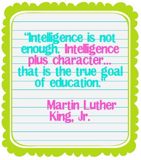 Character Education, Idea, Grade Superkid, Martin Luther King, Quote ...