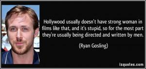 Hollywood Usually Doesn...