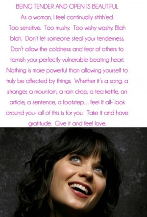 ... for this image include: zooey deschanel, life, love, quote and text