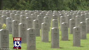 Undignified: Davis' remains were found at Florida National Cemetery ...