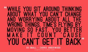 quotes carrie underwoood lyrics