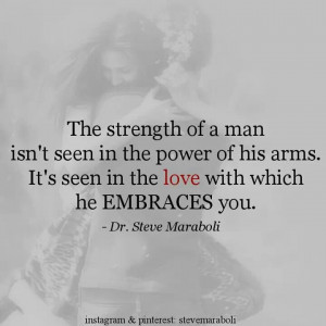 the strength of a man....