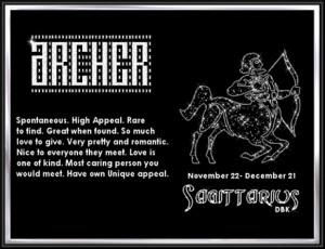 Sagittarius Archer M, Glittery Archer, Sagittarius Zodiac Signs, Fun ...