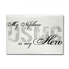 Nephew is My Hero USMC Rectangle Magnet for