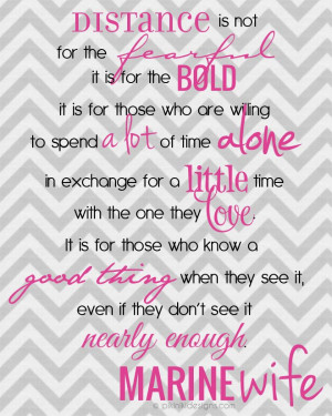 for the bold quote   FREE DIY printable file   shown for Marine Wife ...