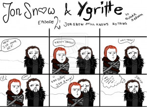 Jon Snow and Ygritte by SugarShroom