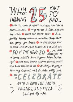 turn 25 things but party s celebrate birthday fun quotes facts quotes ...