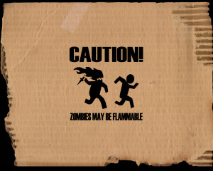 Zombies Funny Wallpaper 1280x1024 Zombies, Funny, On, Fire