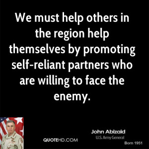 We must help others in the region help themselves by promoting self ...