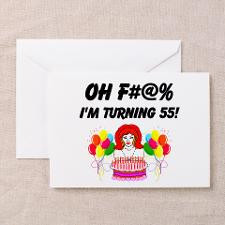 HAPPY 55TH BIRTHDAY Greeting Card for