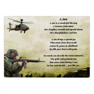 Army Sister Poems Army soldier son poem plaque. ideal for the army ...