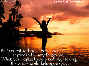 Content Quotes, Pictures, Inspirational Quotes on Contentment and Joy ...