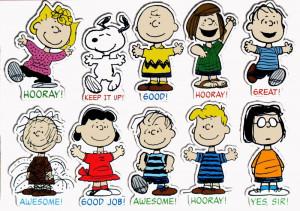 Giant Peanuts Characters Motivational Bulletin Board Wall Decor Set