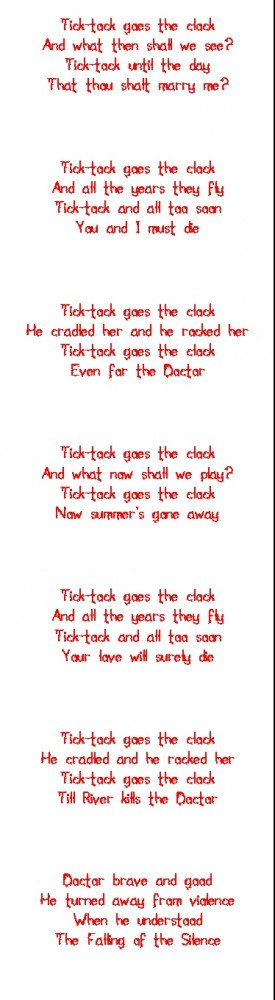 Doctor Who Creepy Tick Tock Poem> It's not that creepy, more like… i ...