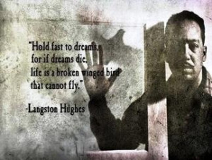 quote by novelist Langston Hughes: