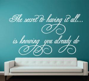 Girl Bedroom Wall Quote Decal - Vinyl Wall Words - Nursery-Wedding ...