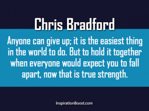 Chris Bradford – Giving Up Quotes
