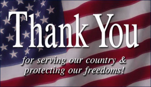 Thank you to all of you who serve our country (military, spouses ...