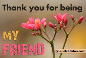 Thanks you for being my friend