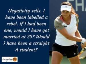 ... sells sania mirza, sania mirza inspirational quotes and meaning