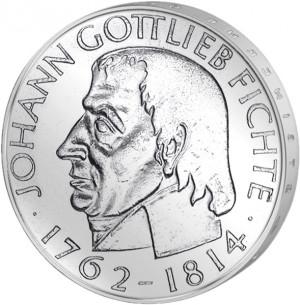 DM Johann Gottlieb Fichte (Deutsche Mark - DM-Gedenkmünzen)-