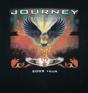 JOURNEY 2009 REVELATION CONCERT TOUR T-SHIRT Adult Medium Black FREE ...
