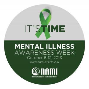 Mental Illness Awareness Week, Oct. 6-12, 2013
