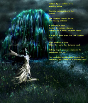Weeping willow woman Image