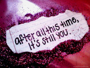 cute, glitter, love, still you, time, typography