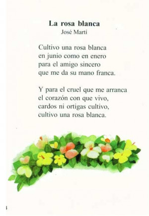 ... Apostol Jose Marti. Quiere decir tanto.....es Cuba es.... Jose Marti
