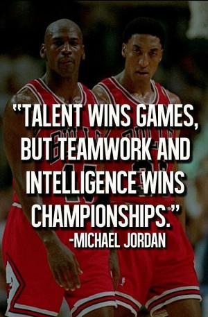 Michael Jordan / Teamwork