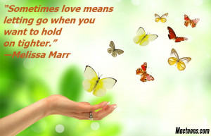 Valentines Day Quotes: Freedom Butterflies With Love Quote