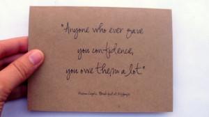 SALE. Truman Capote Quote. Confidence. Breakfast at Tiffanys ...