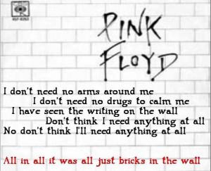Pink Floyd Song Lyrics | The Wall
