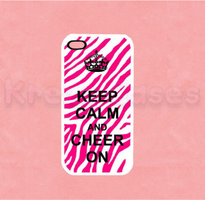 Iphone 5 Case, New iPhone 5 case Keep Calm and Cheer on Zebra Print ...