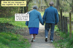 This reminds me of my precious parents .. married 65 years also AND ...