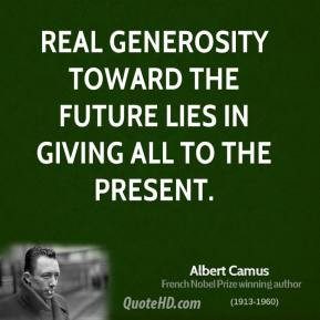 Real Generosity Quotes