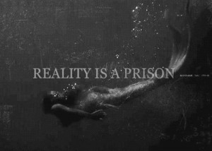 ... little, lost, mermaid, message, perfection, prison, quote, reality