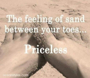 Love walking barefoot in the sand