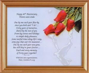 Anniversary Verses, Poems & Quotes