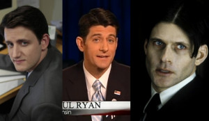 "... Representative Paul Ryan remind me of?"", we have figured it out"
