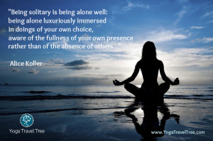 Being solitary is being alone well: being alone luxuriously immersed ...