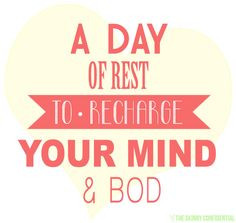 day of rest to recharge your mind and body #restday #run #fitness # ...