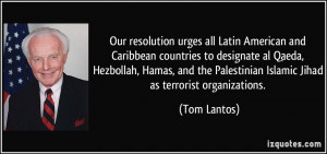 urges all Latin American and Caribbean countries to designate al Qaeda ...