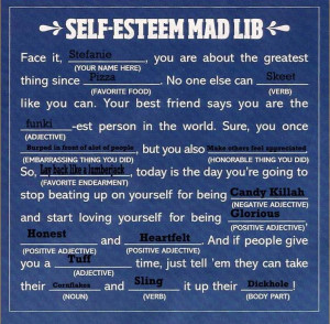 Self Esteem Worksheets for Teens