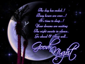 ... and amazing good night quotes, wishes and poetry for the readers