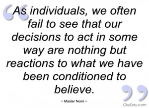 as individuals