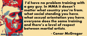 Conor McGregor and Rashad Evans on gay rights