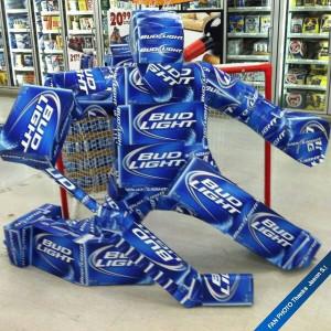 Great Bud Light hockey display